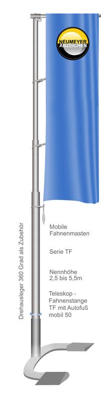 Mobile Teleskopfahnenstange TF55